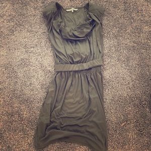 RACHEL Rachel Roy Dresses - Rachel Roy olive green Greek drape silk dress belt